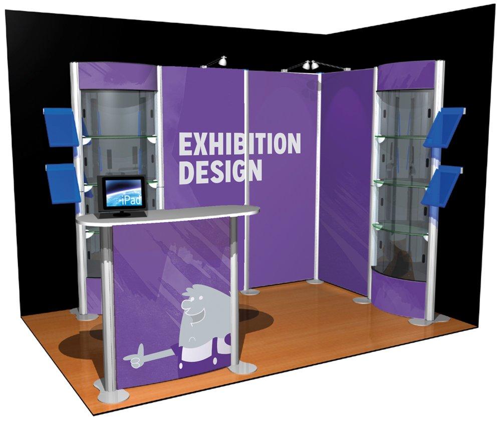 Free Exhibition Stand Mockup : شرکت در نمایشگاه غرفه سازی آمیتیس ، گرید a